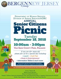 RESCHEDULED | Bergen County Annual Senior Citizens Picnic