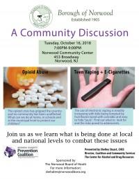 A Community Discussion: Drug Seminar