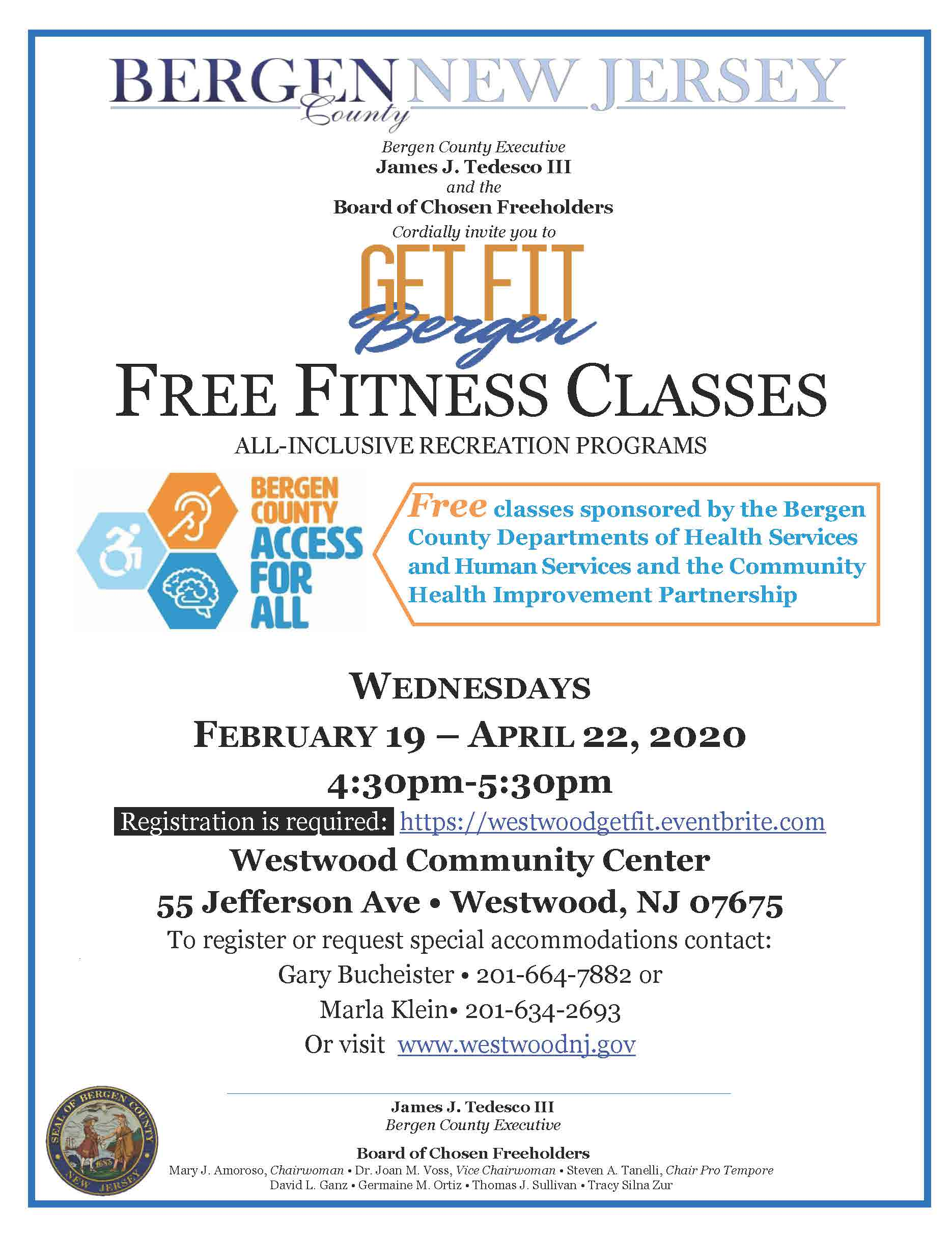 Fitness Classes Westwood Feb Apr 2020