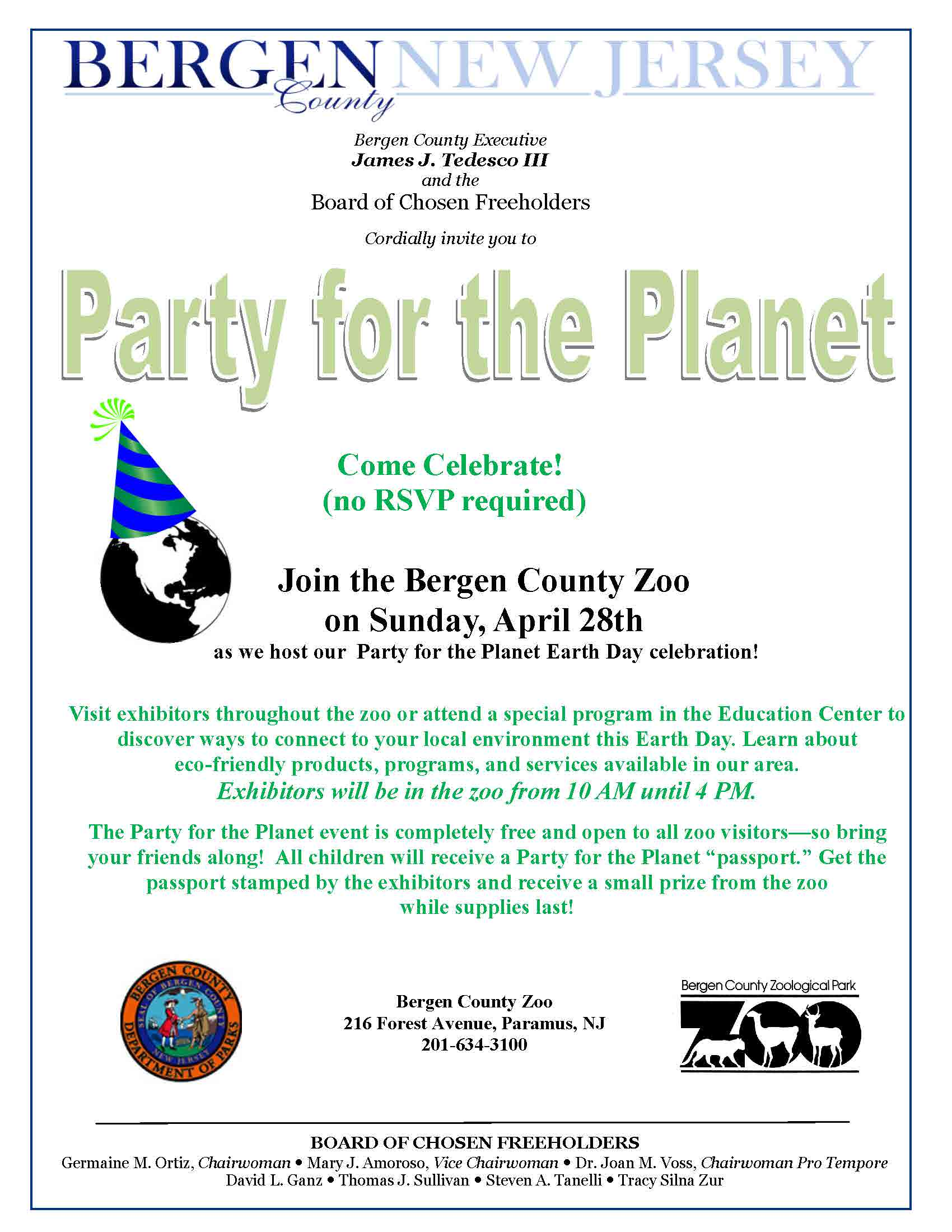 Party for the Planet April 28 2019