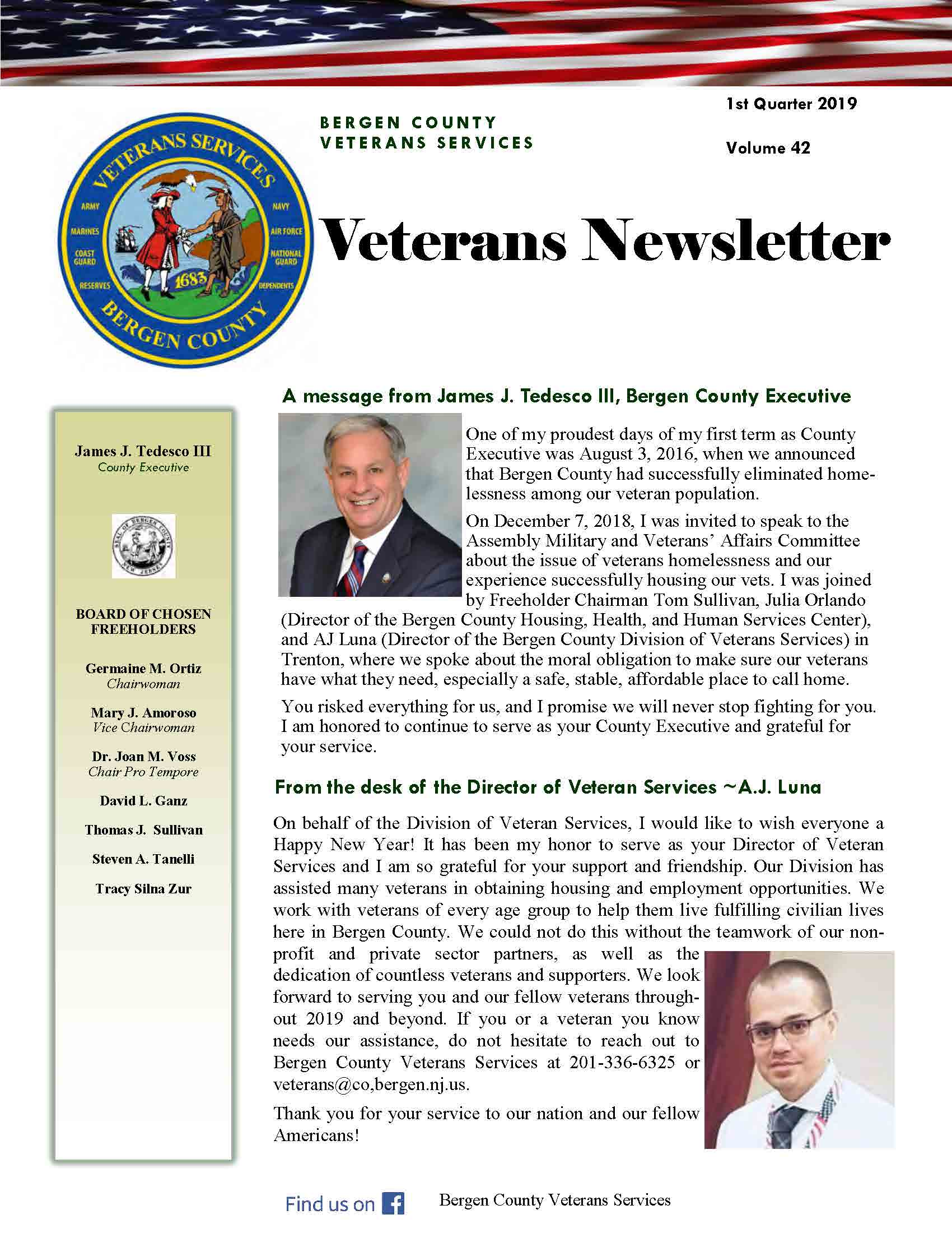 Veterans Newsletter 2019 Qtr 1 thumbnail