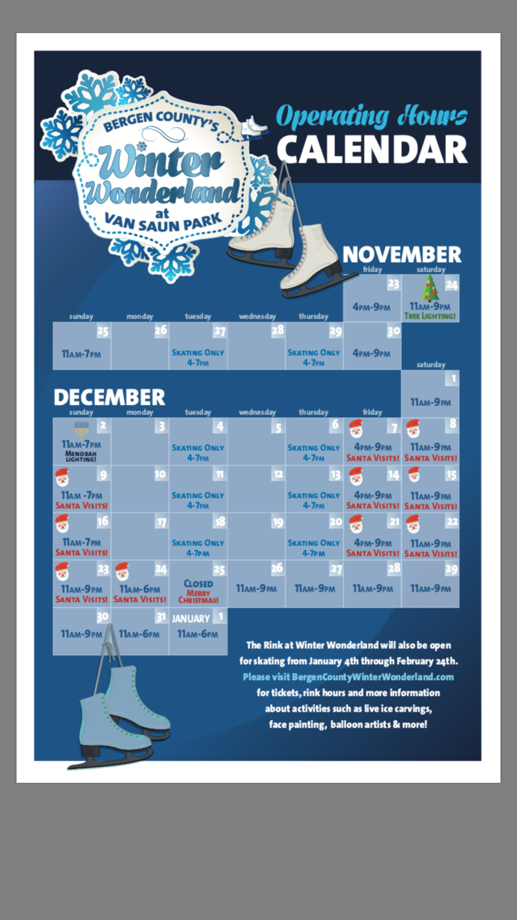 Winter Wonderland Calendar