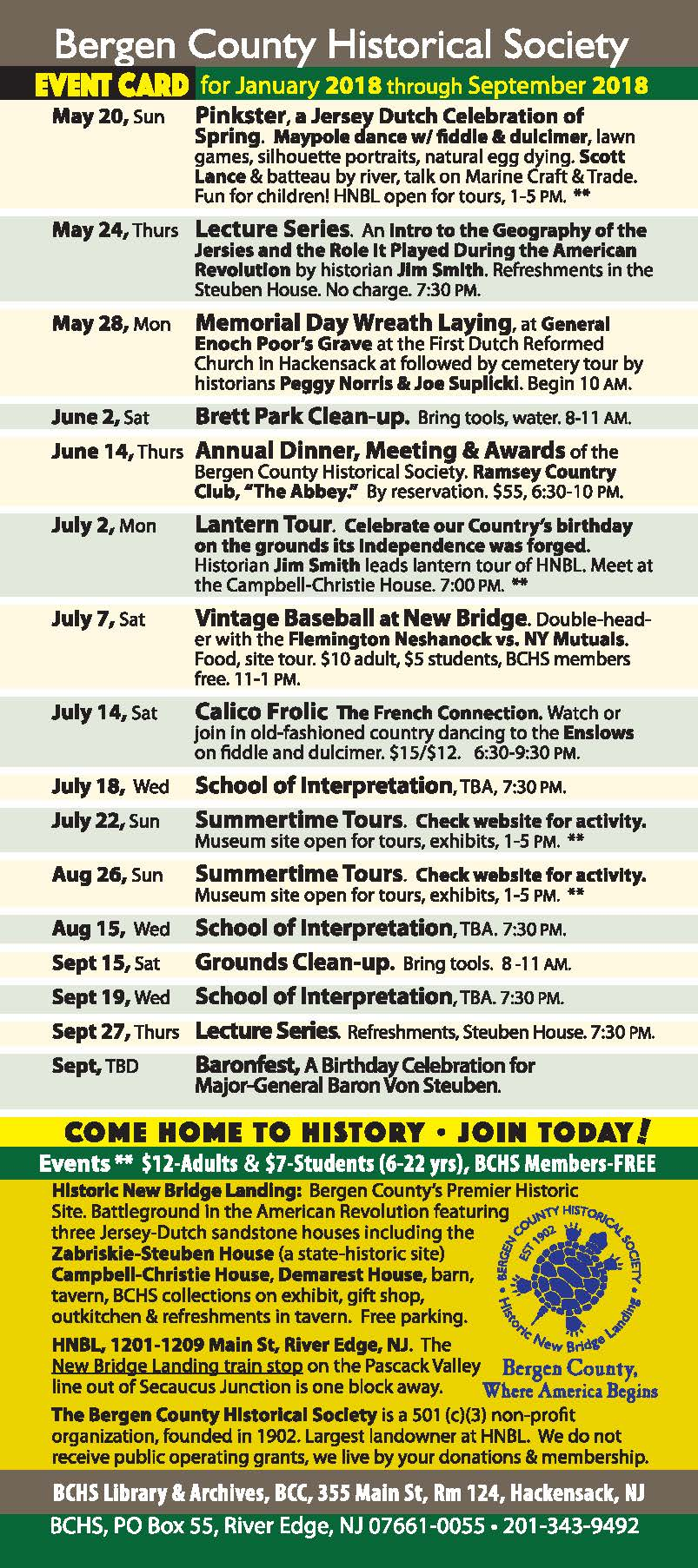 BCHS 2018.EVENTS Page 1