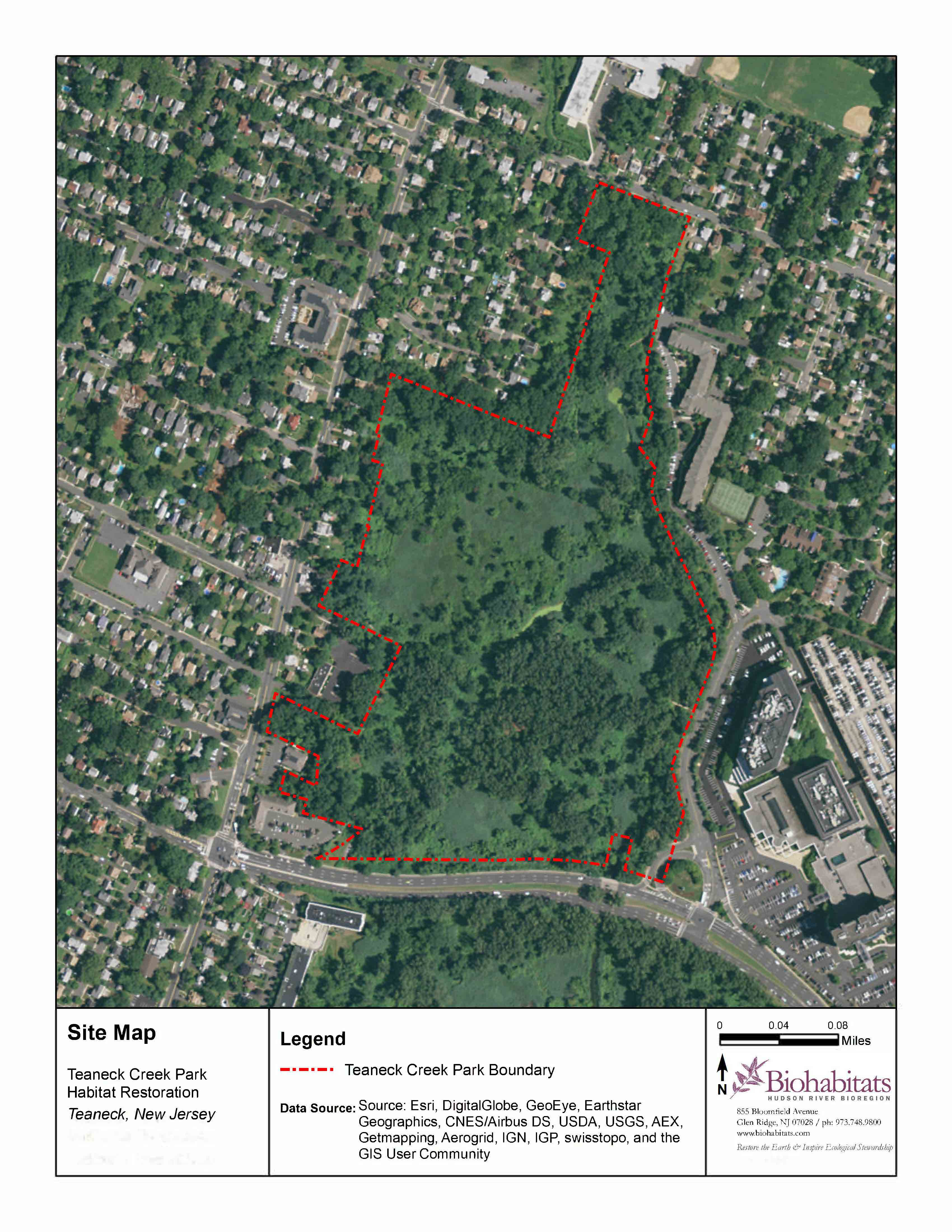 Site Map Teaneck Creek
