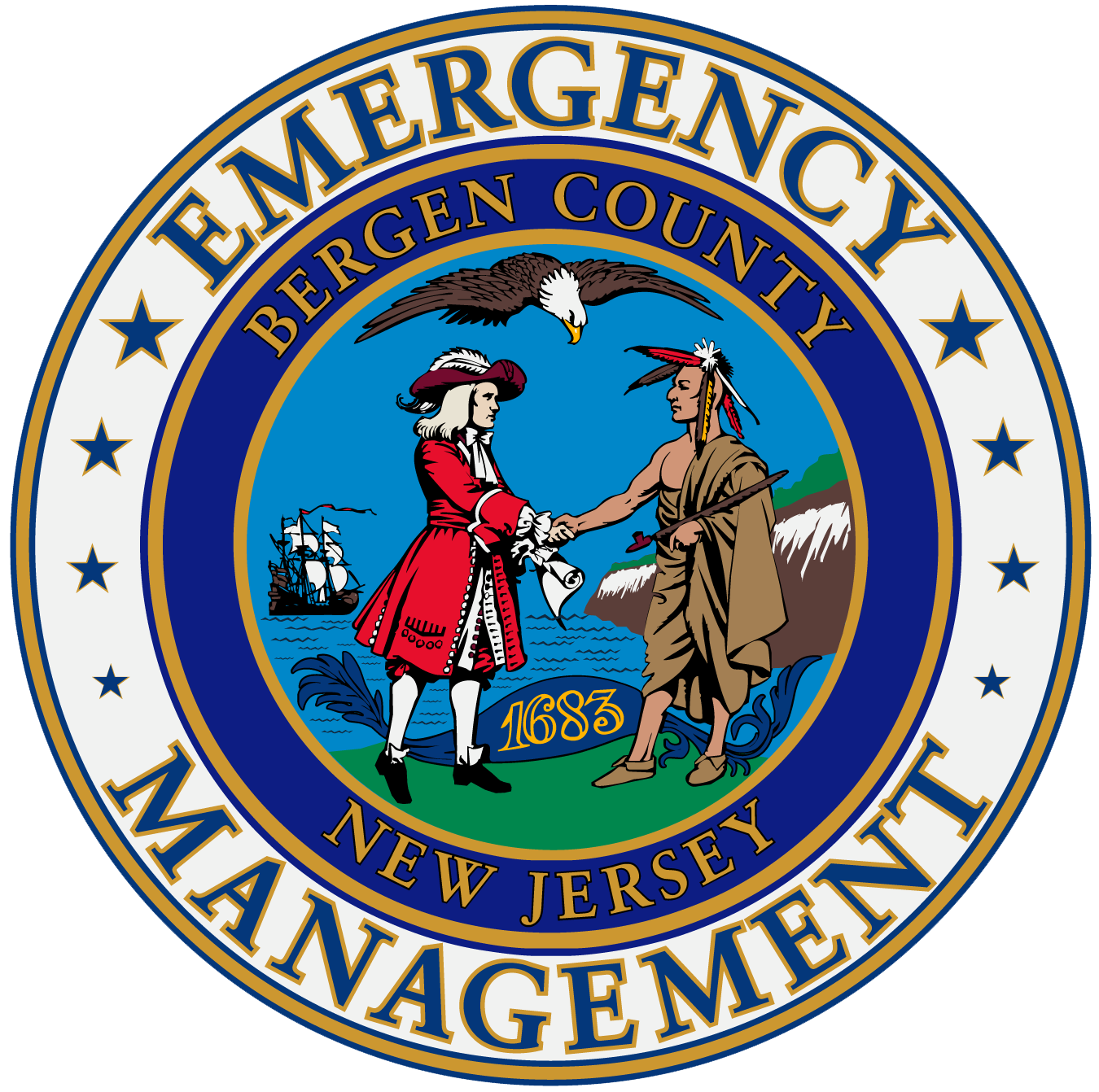 The Bergen County Office Of Emergency Management Is Lead Agency For Preparedness Response Recovery And Mitigation In OEM Logo
