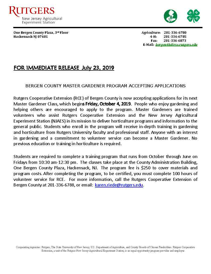Press Release RCE MG Program 2019